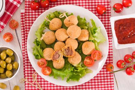 Ascoli stuffed olives. Imagens
