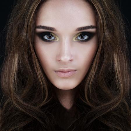 Glamorous Brunette Beauty. Perfect Face