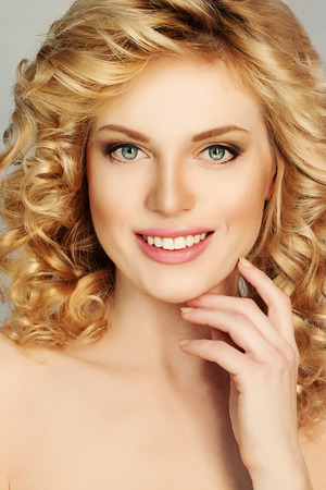 elegance fashion girls look sensuality young: Perfect Girl. Blonde Woman. Beautiful Face