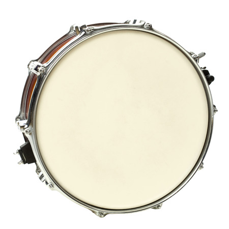 Drum isolated on white Stock Photo
