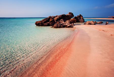 Summer Elafonissi Island on Crete, Greece Standard-Bild