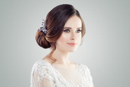 Charming young woman portrait. Cute girl, female face closeup
