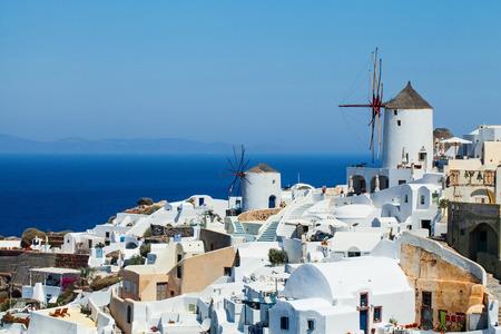 Santorini island landscape, Greece landmark Banque d'images