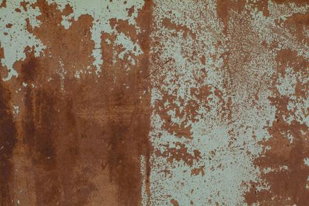 Antiguo muro de texturas de óxido con pintura. Fondo perfecto con espacio.