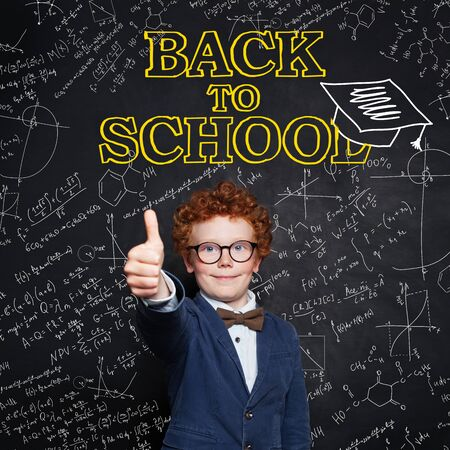 Back to school concept and happy child