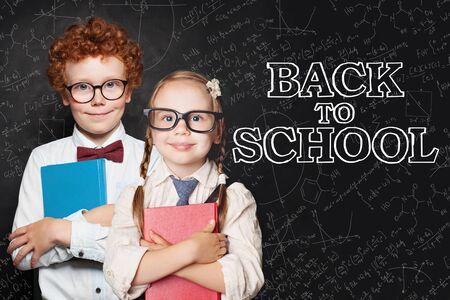 Happy kids, Back to school concept