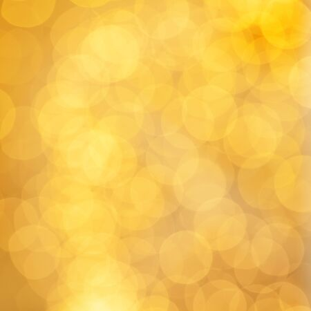 Golden card background with abstract bokeh glitter