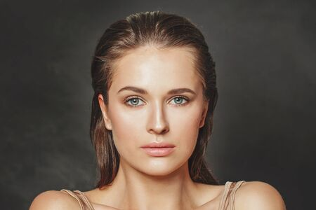Attractive woman. Perfect female face close up