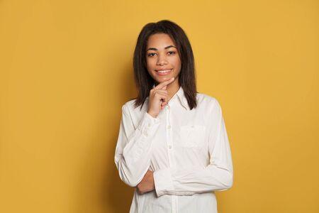 Young smart smiling woman portrait