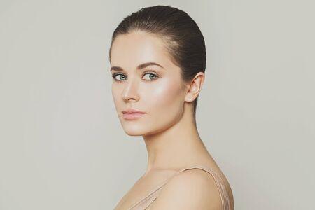 Nice model woman close up portrait