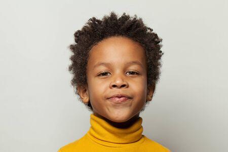 Black child little boy portrait