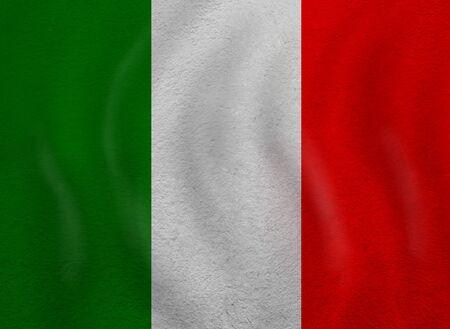 Love Italy concept. Old Italian flag