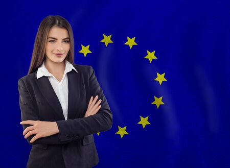 Young woman ready for business or learn language