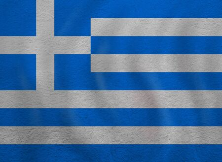 Old Greece flag background outdoors with sunlight 版權商用圖片