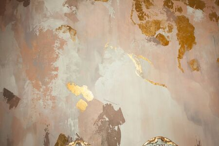 Beautiful abstract stucco texture. Pastel color plaster wall background 版權商用圖片