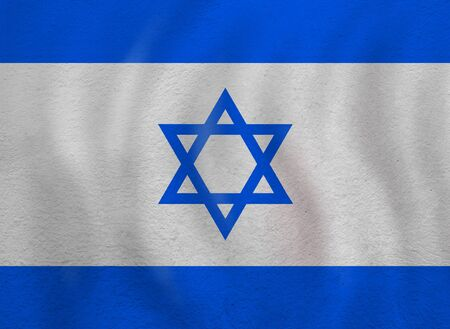 the Israel flag background. Live, education and work in Israel