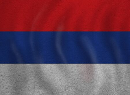 Serbia concept with Serbian flag background. Travel and learn Serbian language Foto de archivo