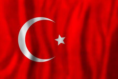 Old art flag background. Travel in Turkey