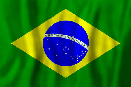 Travel concept with Brazilian flag Background. Education and business