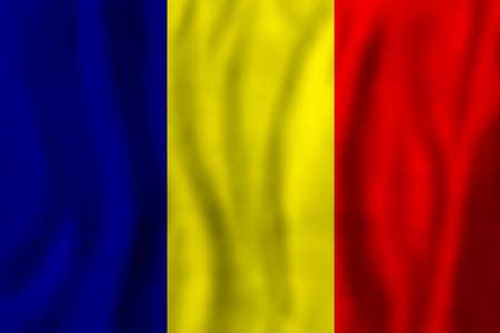 Romania concept Romanian flag background