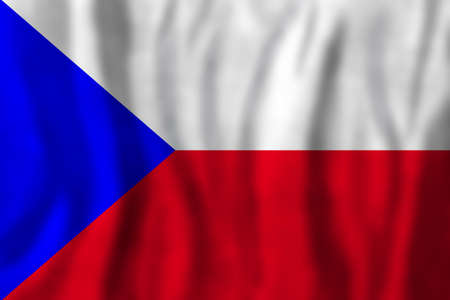 Travel concept with Czech Republic flag Background. Education and business