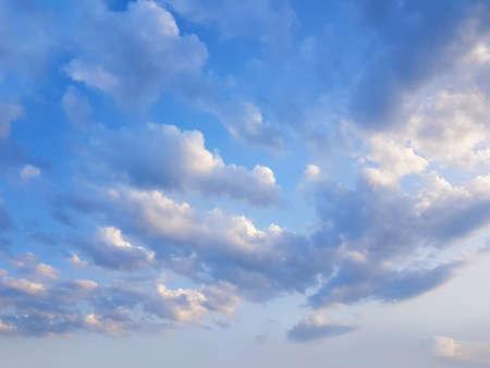 Beautiful sky clouds background, landscape skyline