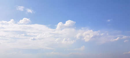 Blue sky clouds background. Beautiful landscape with clouds and day sky