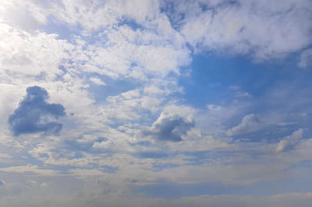 Day sky background. Blue sky with white clouds