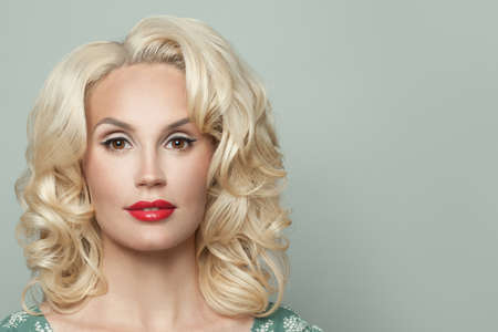 Perfect young blonde woman, fashion portrait