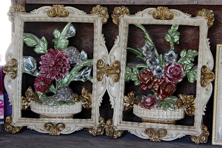 Floral Art Frames Roses Reklamní fotografie