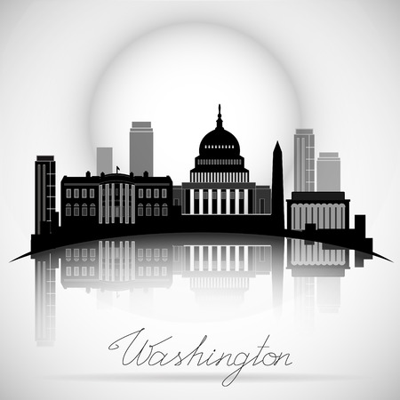 Washington DC skyline icon. 일러스트
