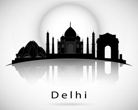 Delhi skyline icon.