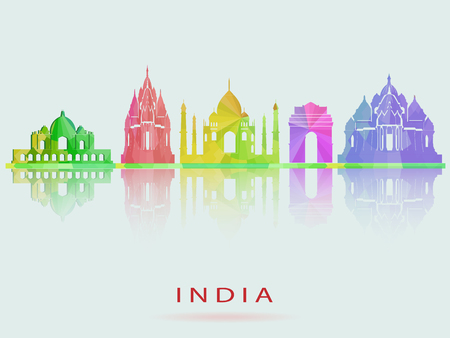 India skyline icon. Illustration