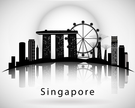 Moderne Singapur Stadt Skyline Design