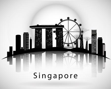 Nowoczesny projekt panoramę miasta Singapur
