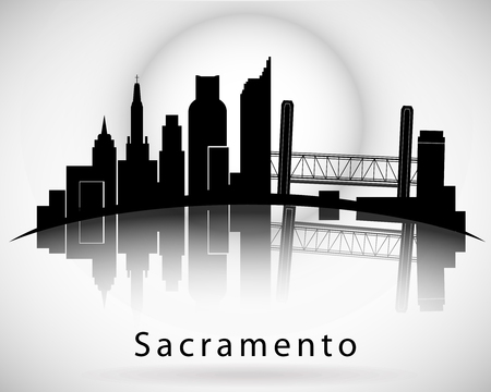 Sacramento skyline Illustration