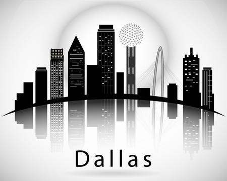 Dallas silhouette. Cities Skyline  イラスト・ベクター素材