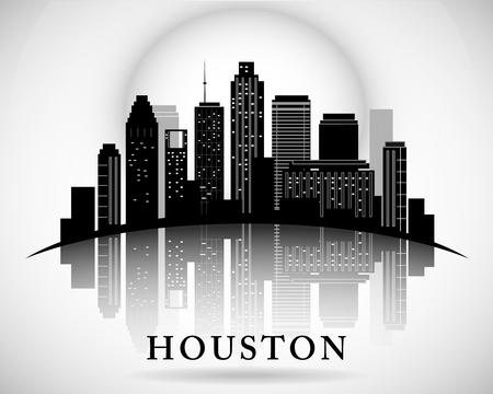 ヒューストン テキサス スカイライン シティ シルエット