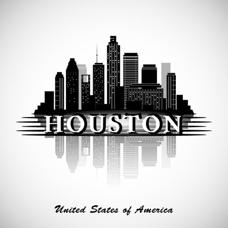 Houston Texas skyline city silhouette