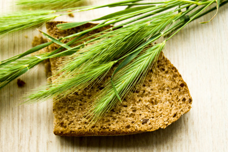 green rye and bread, can be used for design of illyustation