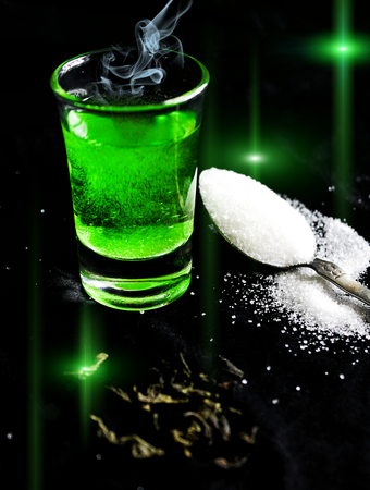 ajenjo: absinthe with sugar cubes