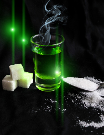 delusion: absinthe with sugar cubes