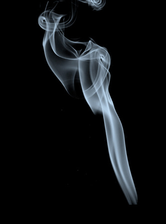 abstract smoke natural pattern for black background and design Stock Photo