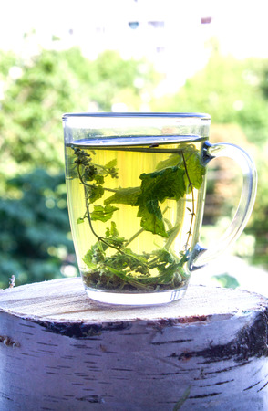 Herbal tea,For health and cheerfulness,tasty, fragrant tea Stock Photo