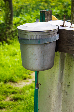 Washstand in the village