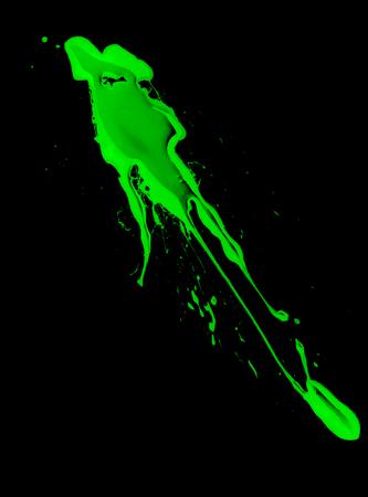 haemoglobin: abstract, green blood on black background close up, illustration.