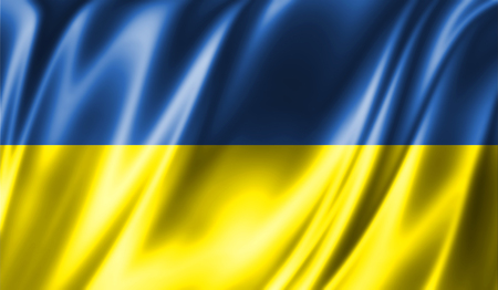 Grunge kleurrijke achtergrond. Vlag van Oekraïne Stockfoto