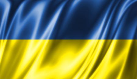 Grunge kleurrijke achtergrond. Vlag van Oekraïne Stockfoto - 74152295