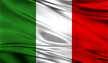 all european flags: Realistic flag of Flag of Italy on the wavy surface of fabric. This flag can be used in design