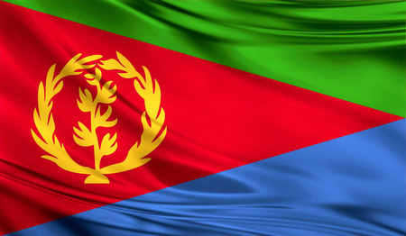 Flag of Eritrea, 3D illustration. Stock Photo